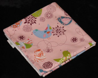 Alexander Henry Pink Starlings and Minky Security Blanket Lovey - SALE