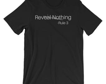 Reveal Nothing, Rule 3, Kings Dark Tidings, Rezkin, The Rules, Legend of Ahn, Ashai, Protect and honor your friends, The Raven T shirt