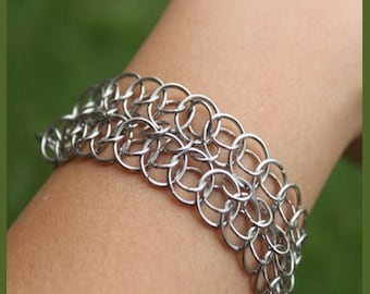 Double Persian Star Chainmaille Bracelet Jewelry Making Kit T113K