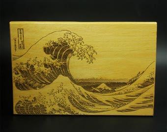 Laser Engraving Ukiyoe The Great Wave off Kanagawa