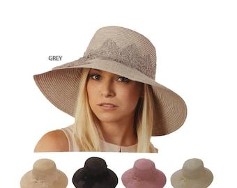 Womens Straw Hat Sun Hat Wide Brim Hat Womens Hats Gift Wide Brim Hat Beach Accessories anniversary gift for wife
