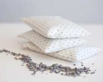 Lavender Sachet Favor - Party Favor - Wedding Favor Lavender sachet white with grey polka dot - Lavender bag bulk - Gift sachet - Wedding