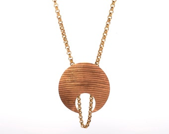 Crescent Moon Cymbal Necklace
