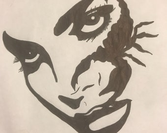 Scorpio Babes: Intense But Undeniable (Black and White Illustration)