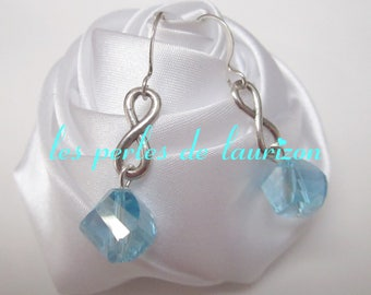 Blue Crystal infinity earrings