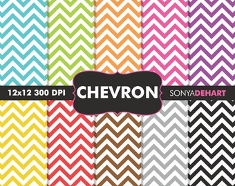 Chevron Digital Paper | digital paper, chevron paper, chevron digital, chevron, scrapbook paper, chevron background, chevron pattern