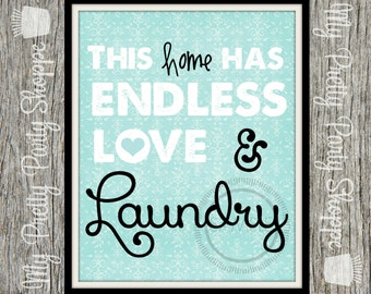 8x10 Laundry Room Printable / Wall Art / Art / Sign *INSTANT DOWNLOAD*