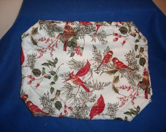 Cardinal & Red Finch Placemats-Set of 4