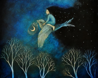 """Limited edition giclée print of original painting by Lucy Campbell - """"bring the night"""""""