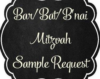 Bar/Bat/B'nai Mitzvah Invitation Sample(s)