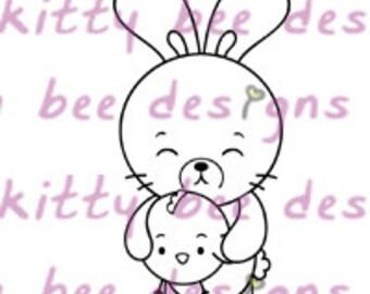 Bun Bun and Cheek Cheek Digital Stamp