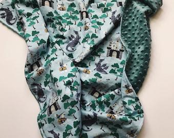 Tapfere Ritter-Baby-Decke, Drachen und Ritter-Baby-Decke, Baby-Decke-junge, moderne Baby-Decke, Drachen und Ritter Kinderbett Bettwäsche