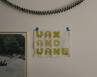 Wax and Wane Word Quilt, Text Flag