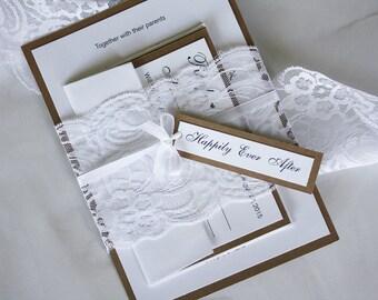 Custom Lace Wedding Invitations, Classic Wedding Invitations, Vintage Wedding Invitations, Rustic Wedding Invitations, Kraft Wedding Invites