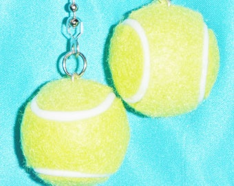 Set of Two ~ Like Real! Tennis Balls Small Sport ~ Ceiling Fan Pulls