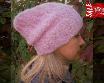 Slouchy Beanie - Hand knitted beanie - knit beanie - winter knit hat - winter knit slouchy hat - chunky slouchy hat - slouchy knit beanie