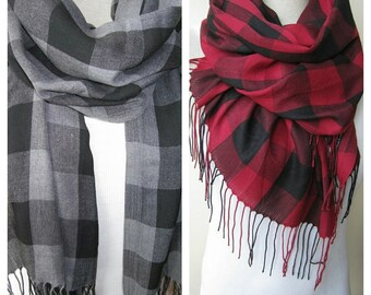 Gray grey Black red burgundy buffalo plaid scarf Man fashion-mad-mens scarf -hijab-2015 trends FASHION Turkish Scarf scarves2012