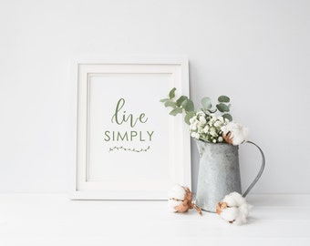 Live Simply sign printable, Farmhouse decor, Home print, Farmhouse Sign Calligraphy print, Cottage Decor Print, Quote Print Instant Download