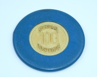 100 Franc Casino chip from the Jursaal in Oostende