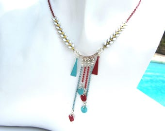 Kit Mariola Blue Lagoon and Red necklace
