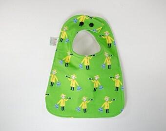 Fisherman Baby Bib - Handmade Bib - Green Baby Bib - Nautical Baby Bib - Baby Boy Clothes - Boy Bib - Toddler Bib - Baby Boy Gift - Gift