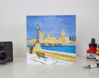 Greeting Card: Westminister Walk