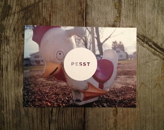 """FineArt Photo PostCard 6.25x4.5"""" size - Playground Bouncer, Abstract Fine Art Photo """"Hello There"""" & """"Psst"""", Made on Recycled paper, set of 4"""