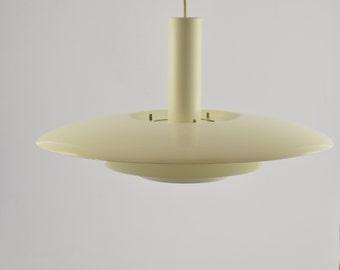Scandinavian hanging light, white pendant light.