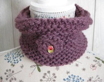 girl in purple wool snood