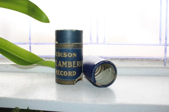 Antique Edison Cylinder Record 1563 Aunt Dinah's Golden Wedding