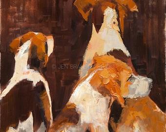 Hunting Dogs Giclée Fine Art Print