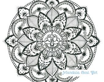 Mandala Soul Art - Namaste