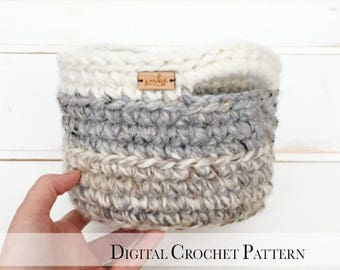 PDF Crochet Pattern / Crochet Basket Pattern / Easter Basket Pattern / DIY Easter Crochet Pattern / Basket with Handles