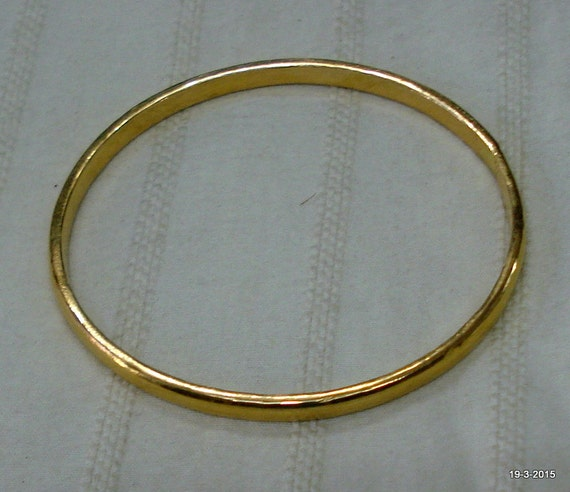 solid img bracelet gold of rose set hammered thin jewelry bangles bangle