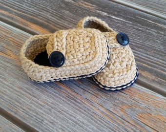 Infant Boy Shoes - Crochet Baby Loafers - Newborn Boy Shoes - Baby Boy Shoes - Baby Loafers  - Infant Girl Shoes - Baby Crib Shoes