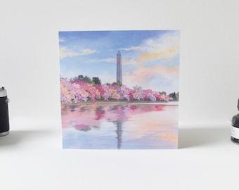 Washington Monument - Illustrated Greeting Card