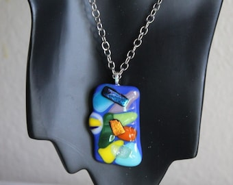 Blue Full Fuse Colorful Pendent