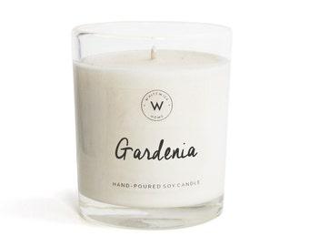 "Medium ""Gardenia"" Scented Soy Wax Candle"