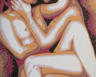 "Entangled - Original Acrylic Painting on Canvas 20"" x 16"""