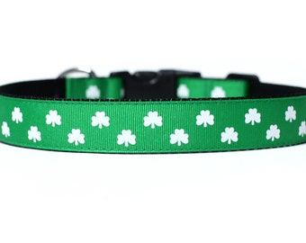 1 Inch Wide Dog Collar with Adjustable Buckle or Martingale in Lucky