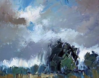 Impressionist Art | Original Painting | Modern Art | Abstract Painting | Landscape Art | Painting | Oil Painting | Fine Art | Clouds