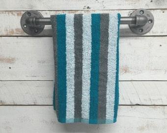 Industrial Towel Bar, industrial towel rack, rustic towel bar, towel holder, bath towel bar, industrial towel bar, pipe towel bar