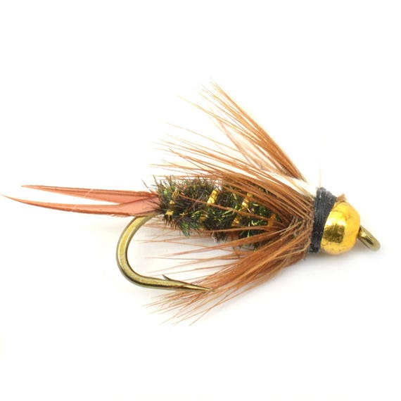 Bead Head Prince Nymph Fly - Trout and Panfish Fly Fishing Flies - Hook Size 16 - Hand Tied Trout Flies