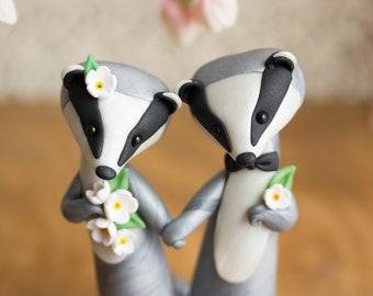 Eurasian Badger Wedding Cake Topper - Badger Sculpture