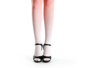 Ombre tights pale salmon - salmon