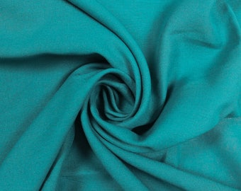 Jade Rayon Challis Woven Fabric by the Yard, Swatch , Sample - Style 3265