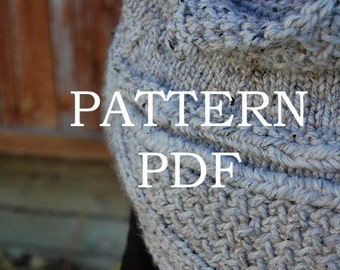 PATTERN PDF - Knitting Pattern for DIY Katniss Inspired Cowl Capelet - 2 sizes - video tutorial link included
