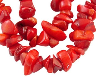 Red Coral Chips - Medium Size