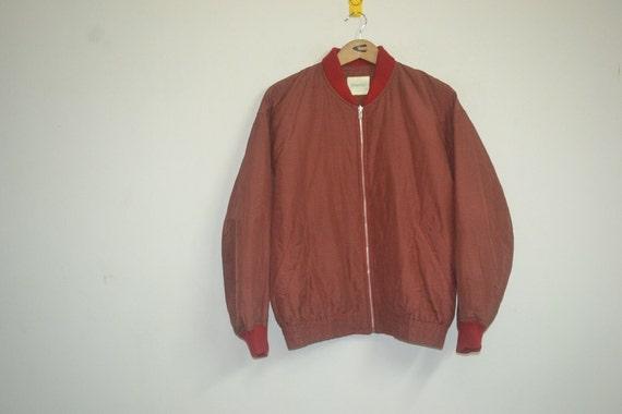 Vintage Made in Japan Vivayou Checks Plaids Tartan Red Lining Bomber Jacket Size Medium Punk Rock Grunge Hip Hop Rap Swag RTv9QR3R