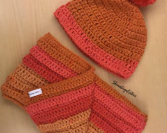 Hat and Scarf Crochet Sets